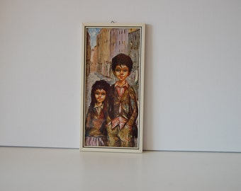 Retro print made by Manes with a boy and a girl