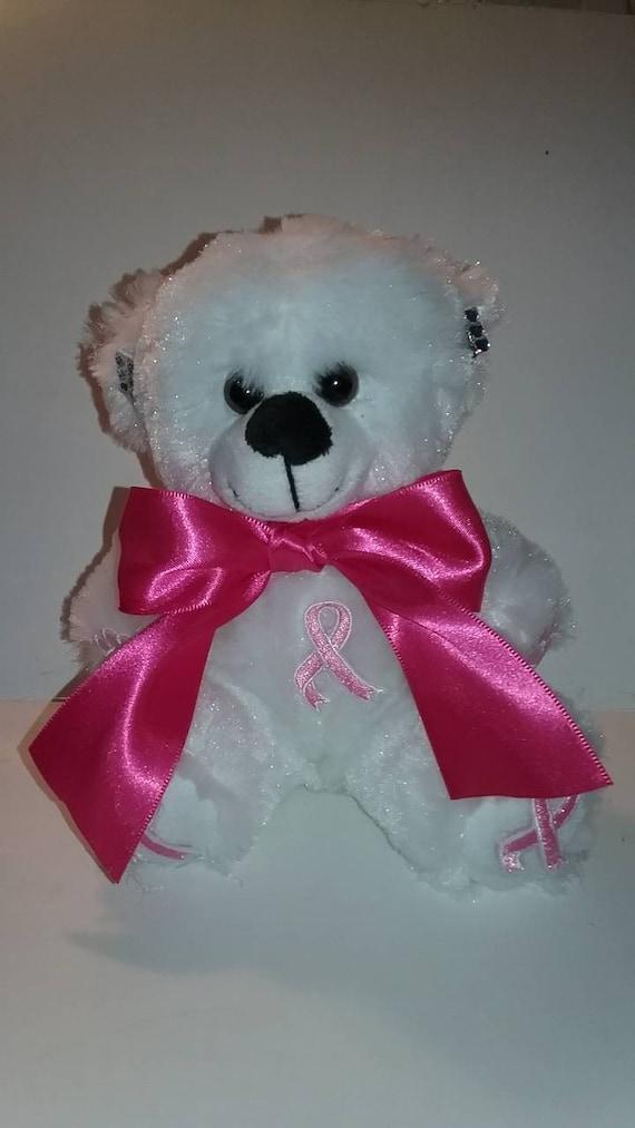 6 Inch Blue Ribbon Awareness Teddy Bear