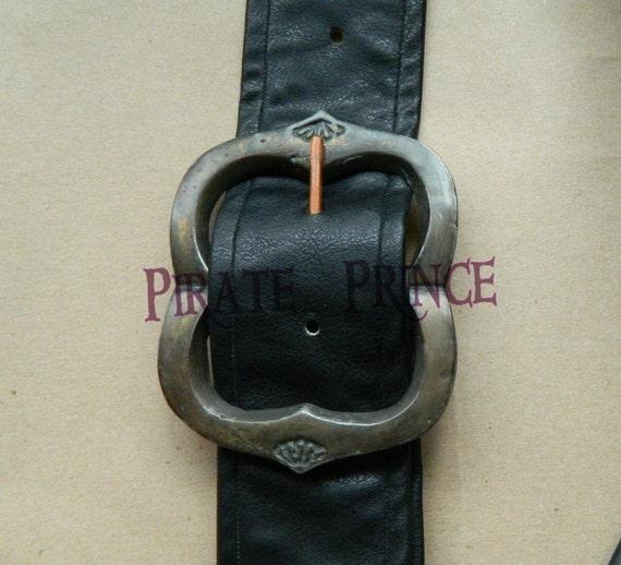 Boucle de ceinture Jack Sparrow en laiton avec une patine pour cosplay,  pirates des Caraïbes e22543cbd4b