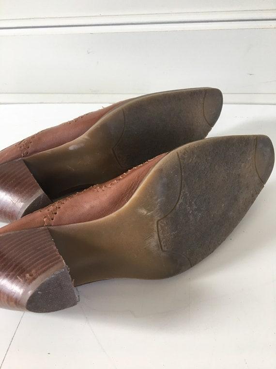 Vintage leather cowboy boots - cowboy mules , clo… - image 7