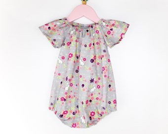 Romper, Baby romper, Baby girl romper, Girl romper, Cake smash outfit, Baby playsuit, Newborn outfit, Baby shower gift, Coming home outfit