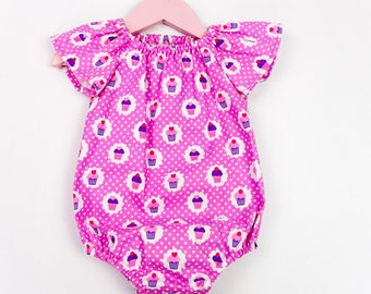 Baby girl romper, baby romper, cake smash outfit, toddler romper, toddler playsuit, newborn outfit, baby shower gift, going home outfit