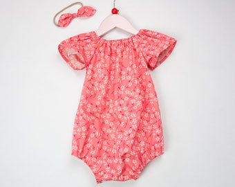 Baby romper, baby girl romper, summer romper, romper, cake smash outfit, toddler romper, newborn outfit, baby shower gift, going home outfit