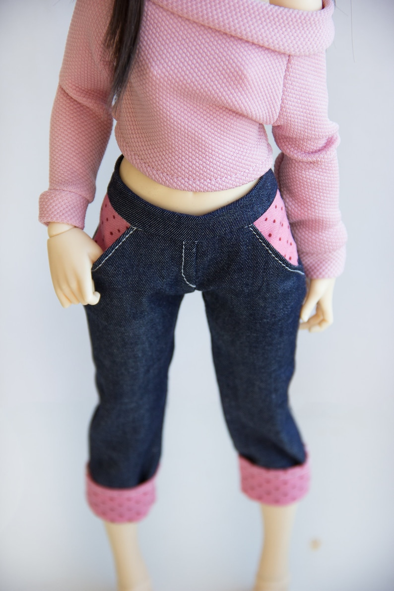 BJD clothes MSD Minifee shorts bjd clothes Top and jeans for Minifee Minifee clothes