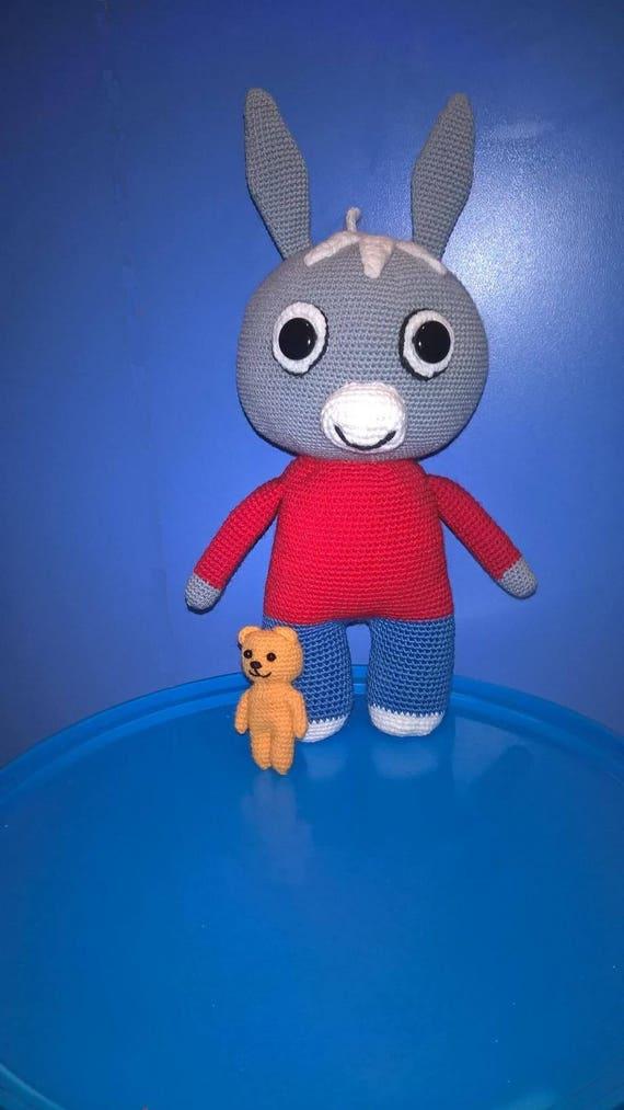 Donkey trotro 11 plastic eyers and teddy bear plastic etsy - Trotro france 5 ...