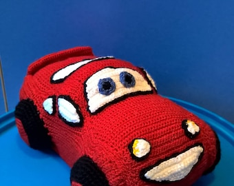"Lighting McQueen 7"" - Cars- crochet car"