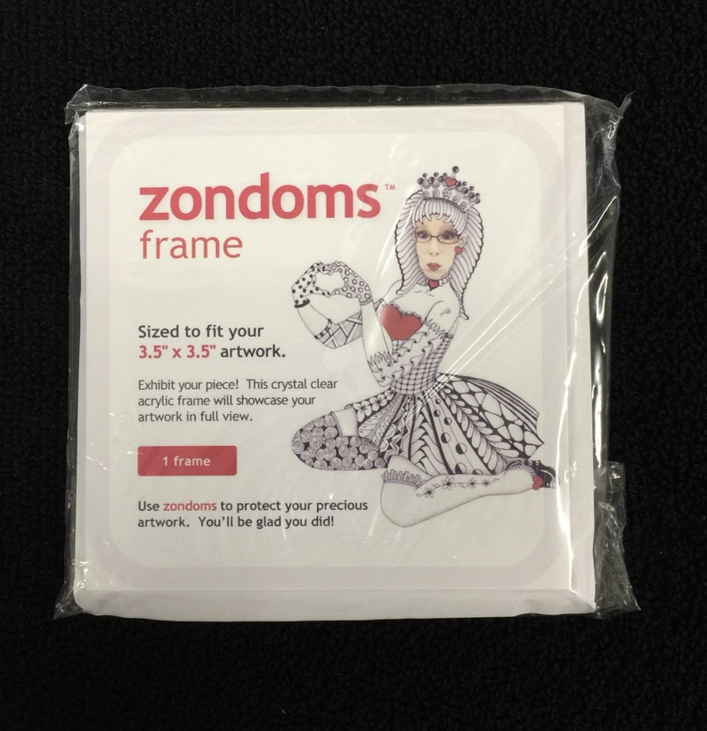 zondoms™ crystal clear acrylic frame for Zentangle® tiles or image 0