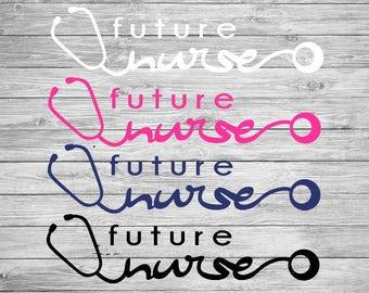 Future nurse decal | nurse decal | wall decal | vinyl decal | nursing school | nurse car decal | mug decal | tumbler decal | stethoscope