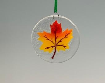 Maple leaf ornament Fall leaf window hanging