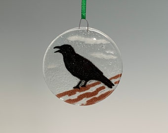 Crow Ornament Black Bird