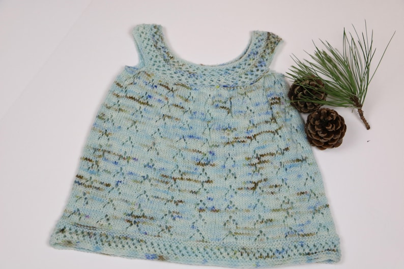 8606ad4c9 Baby hand knit dress infant wool jumper blue knit dress