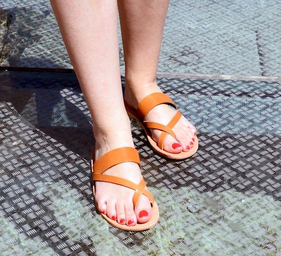 handmade sandals, Beach shoes, Ancient Greek sandals, Flip Flop Sandals flats, tan sandals, astir sandals, leather sandals, sandals KOS