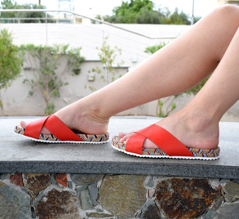 ESPANDRILLES, Rope sole, Leather sandals, Greek sandals, Espadrille sandals, Espadrille leather sandals, organic shoes, Leather Espadrilles,