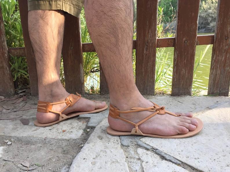 f0c0f16e61a Ankle strap sandals Genuine leather Barefoot Huarache