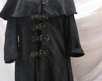 Van helsing style ankle length black coat. Made to measure.