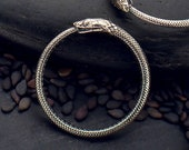 Gold Ouroboros Ring or Charm 925 Sterling Silver or Solid Bronze Ouroboros Snake Ring