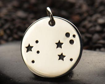 Sterling Silver Leo Constellation Charm