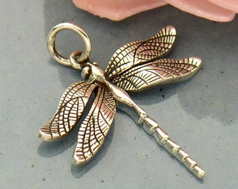 Dragonfly Charm Sterling Silver. Dragonfly Pendant