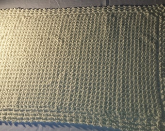 Victorian lace edged crocheted baby blanket