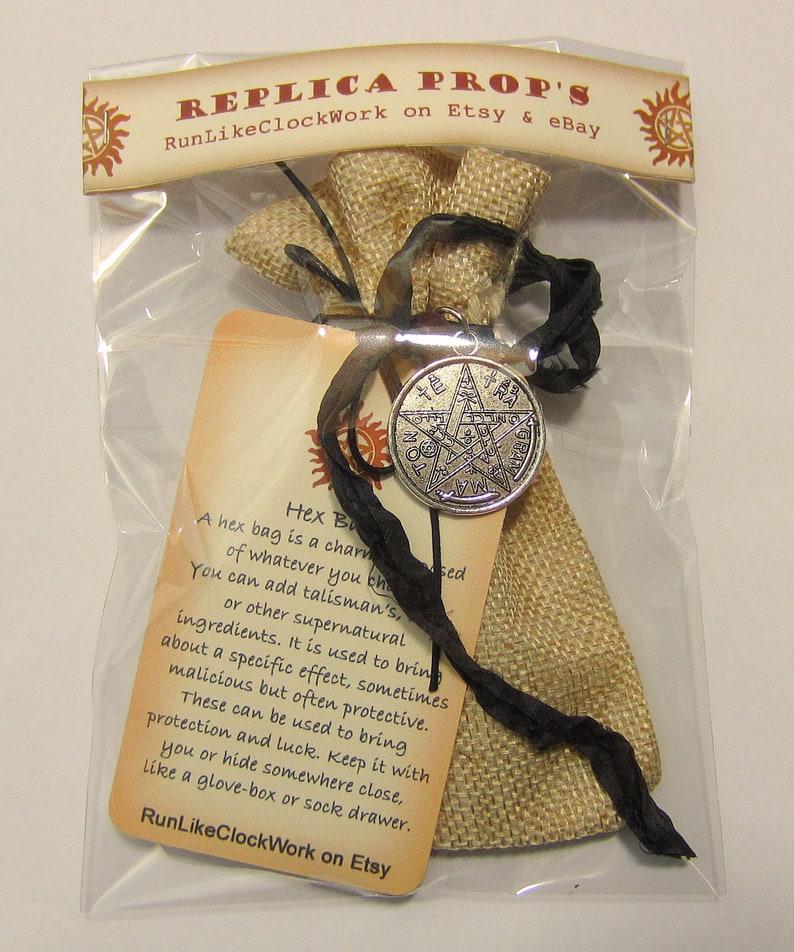Supernatural Hex Bag, Protection Symbols Sigils, Devils Trap, Good Luck,  Supernatural Gift Fan Gift, Replica, Dean Winchester Hunters kit