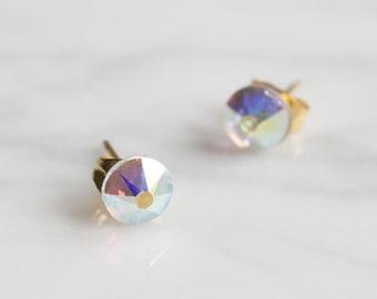 White cristal earrings
