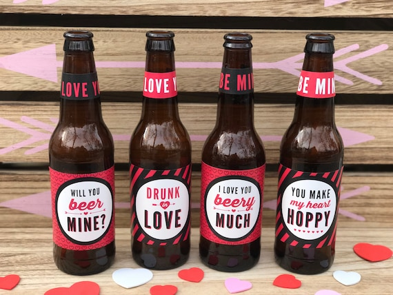 Valentines Day Beer Labels Valentine S Day Gift For Him Etsy