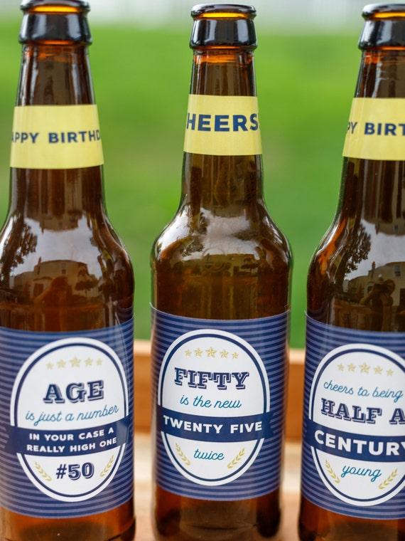 1 bouteille bière Imprimé Sac Cadeau Homme Fête des Pères Anniversaire Étiquettes Cadeau Fête Cadeau