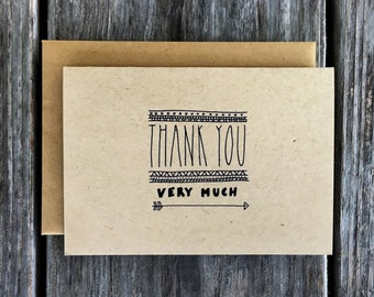 Thank You Very Much Cards, Thank You Card Pack, Thank You Cards Bulk