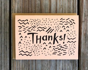 90s Style Thank You Card Set, Wedding Thank You Cards, Thank You Note Card Pack