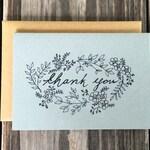 Wedding Thank You Card Set, Rustic Wedding Thank You Cards, Vintage Inspired Flower Thank You Cards