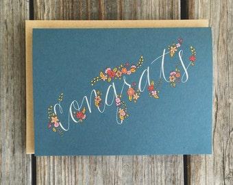 Graduation Card, College Graduation Card, Congratulations Card