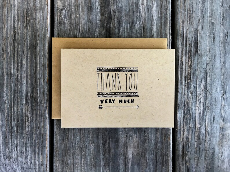Thank You Very Much Cards Thank You Card Pack Thank You image 0