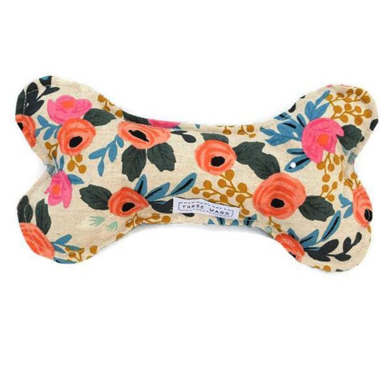 Rifle Paper Floral Dog Toy Squeak Toy Plush Dog Toy For Etsy