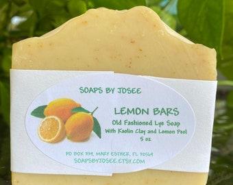 LEMON BARS Old Fashioned Lye Soap
