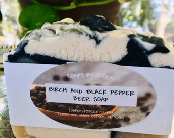 Birch and Black Pepper Old Fashioned BEER Lye Soap