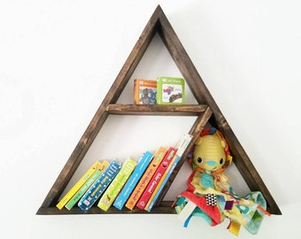 Floating Shelf - Triangle Shelf - Triangle shelves - Baby Shelf - Floating Shelves - Floating Bookshelf- geometric shelf