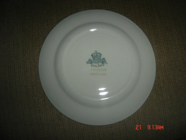 Antique WOODS /& SONS England 1917 WOO1 6 Bread  Butter Plate Vg Condition