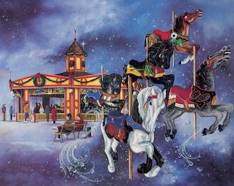 SIGNED 16x20 PRINT - Tuscora Park Carousel