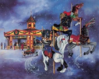 Christmas Card–Tuscora Park Carousel