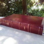 Leather-lined NRSV Bible in Blood Red Goatskin, New Revised Standard Version, Shipping included