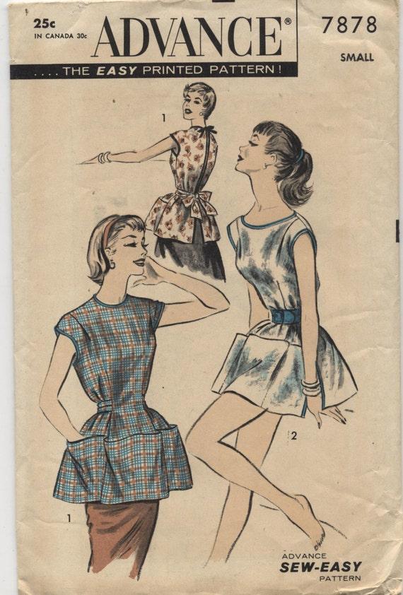 Jahrgang 1950 Kasack oder Poncho Schnittmuster Nähen einfach | Etsy