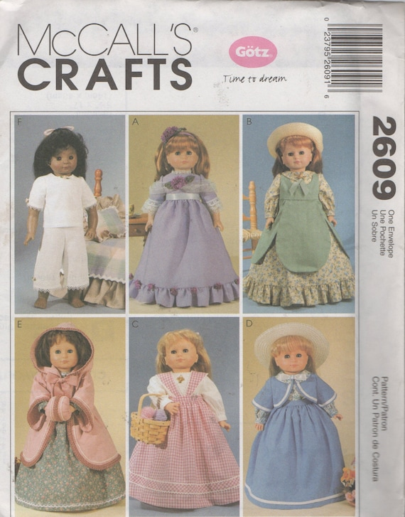 40 Doll Colonial Clothes Sewing Pattern Dresses Etsy Custom Colonial Dress Patterns