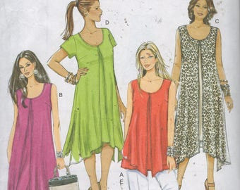 Misses Top, Pants, and  Dress Sewing Pattern - Butterick 5655 - Size 8, 10, 12, 14,16   Bust 31 1/2 - 38  - Uncut