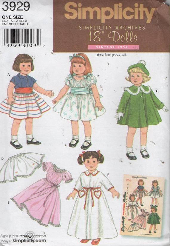 18 retro Puppenkleider Nähen Muster Nachdruck von 1952   Etsy