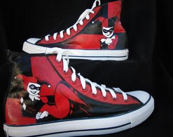 402c8f38500f Harley Quinn Converse High Top Shoes