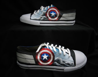 Captain America Avengers Handpainted Shoes