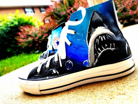 fa923a4028e5 Jaws Converse High Top Shoes