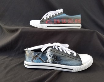 Hellraiser Custom Hand Painted Shoes