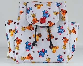 Cute safari animals backpack rucksack knapsack back to  d19151c8aec52