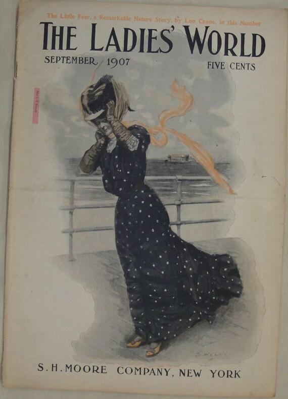 Ladies World Full Issue September 1907 1900 S Etsy